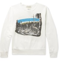 Remi Relief Printed Loopback Cotton Jersey Sweatshirt Neutrals