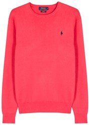 Polo Ralph Lauren Coral Pima Cotton Jumper Bright Pink