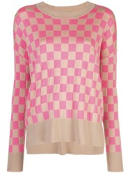 Adam By Adam Lippes Checked Sweater Brown