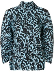 Solace London Pleated Animal Print Blouse 60