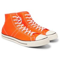 Converse Lucky Star Faded Glory Rubber Trimmed Canvas High Top Sneakers Orange
