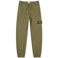 Stone Island Garment Dyed Cargo Sweat Pant Green
