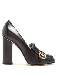 Gucci Marmont Fringed Leather Pumps Black