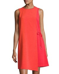Tahari By Arthur S. Levine Sleeveless Grasscloth Dress Medium Orange