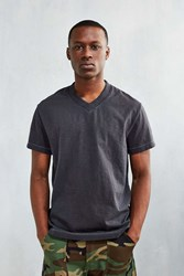 Cpo Slub V Neck Tee Washed Black