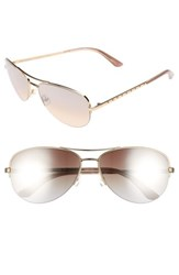 Juicy Couture Women's Shades Of By 60Mm Gradient Aviator Sunglasses Light Gold