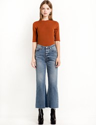 Pixie Market Marcy High Waisted Crop Flared Jeans