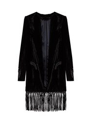 Blaze Milano Midnight Smoking Etoile Velvet Jacket Black
