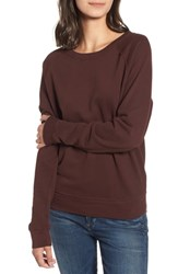 Stateside French Terry Sweatshirt Wine