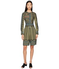 Yigal Azrou L Tribal Embroidered Cotton Romper Army Multi Women's Jumpsuit And Rompers One Piece Brown