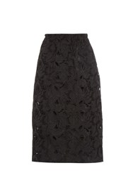 N 21 Floral Embroidered Midi Skirt