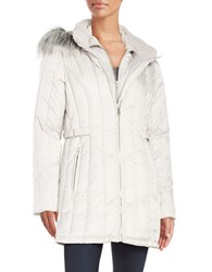 Nautica Faux Fur Hooded Puffer Coat