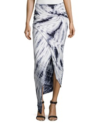 Young Fabulous And Broke Young Fabulous And Broke Tie Dye Wrap Maxi Skirt Gray White