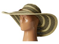 San Diego Hat Company Ubl6489 Round Crown Stripe Ultrabraid Floppy Olive Traditional Hats