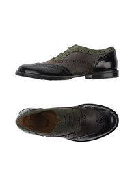 L'f Shoes Lace Up Military Green