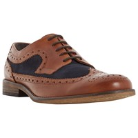 Dune Braker Combo 2 Tone Brogue Derby Shoes Tan