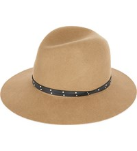Rag And Bone Floppy Brim Wool Felt Fedora Camel