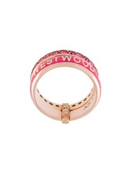 Vivienne Westwood Two Band Ring Pink And Purple