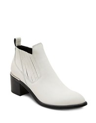 Dolce Vita Percy Leather Booties Off White
