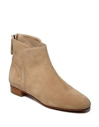 Delman Myth Suede Ankle Boots Nude