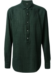 Blk Dnm Check Print Shirt Green