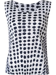 Issey Miyake Pleats Please By Printed Tank Top White