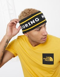 The North Face Chizzler Retro Reversible Headband In Yellow Black