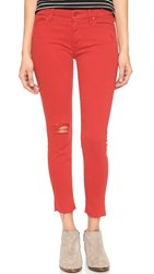 Mother Looker Ankle Fray Jeans Cayenne