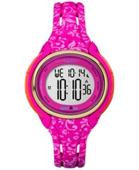 Timex Women's Digital Pink Floral Silicone Strap Watch 56Mm Tw5m03000jt