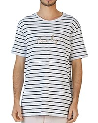 Barney Cools Rope Short Sleeve Striped Tee White Stripe