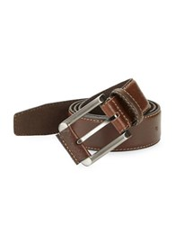 Tallia Orange Textured Leather Belt Brown