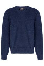 Jil Sander Pullover With Mohair And Wool Blue