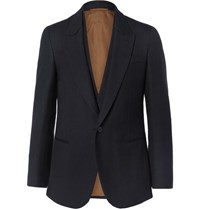 Berluti Midnight Blue Slim Fit Double Layered Wool Blazer