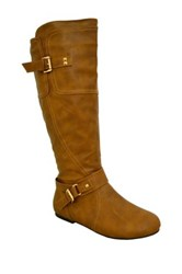Twisted Shelley Tall Boot Brown