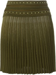 Roberto Cavalli Pleated Mini Skirt Green