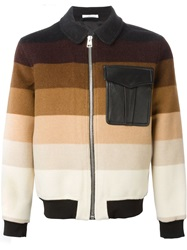 J.W.Anderson J.W. Anderson Striped Bomber Jacket Nude And Neutrals