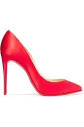 Christian Louboutin Pigalle Follies 100 Satin Pumps Red