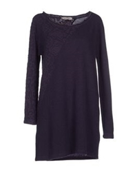 Blue Deep Sweaters Dark Purple