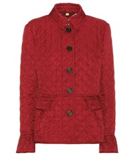 Burberry Quilted Jacket Red