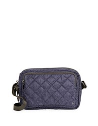 Le Sport Sac City Crosby Crossbody Ink Denim Quilted