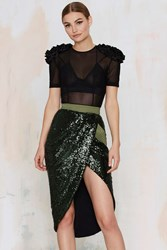Nasty Gal Zhivago Eye Of Horus Sequin Skirt