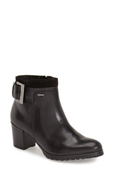 Geox 'Lise' Amphibiox Waterproof Ankle Boot Women Black Smooth Leather