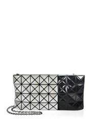 Issey Miyake Prism Two Tone Chain Clutch White Black
