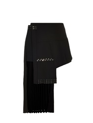 Anthony Vaccarello Pleated Kilt Pin Skirt
