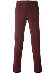 Incotex Slim Fit Chinos Pink And Purple