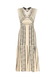 Peter Pilotto Indix V Neck Jersey Dress Cream Multi