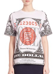 Opening Ceremony Cotton Dollar Print T Shirt White Combo