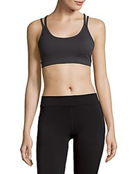 Threads For Thought Lotus Sports Bra Gunmetal