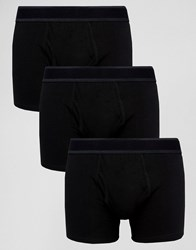Burton Menswear Boxers Triple Pack Black