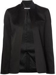 T By Alexander Wang Stretch Satin Blazer Black